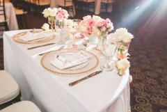 10000 pieces of Wedding Gold and Silver Clear glass charger plates Golden Triangle Kuala Lumpur | Tangtu.my 1
