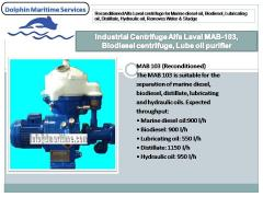 Alfa Laval oil purifier, centrifuge MAPX-204, MAPX-207, MAPX-309, MAPX-205,MAB-103