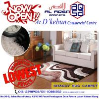 CARPET FACTORY IN MALAYSIA / SHAGGY RUG SUPPLIES SPECIAL CARPET FROM RM 90 ONLY
