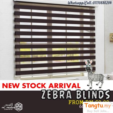BIDAI ZEBRA TINGKAP MURAH / CHEAP WINDOW ZEBRA BLINDS MALAYSIA PRICE Klang - Tangtu Malaysia-Singapore Free Classified Ads