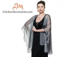 Evening Wraps & Jackets In Silver - A Hot Choice