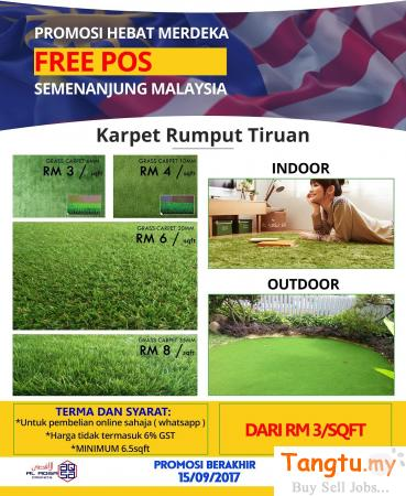 SUPERB PROMOTION - DECORATIVE ARTIFICIAL GRASS Klang - Tangtu Malaysia-Singapore Free Classified Ads