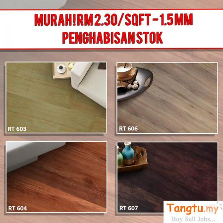 SPECIAL PROMOTION FOR WOOD VINYL ONLY FROM RM 2.30/SQFT FREE POSTAGE Klang - Tangtu Malaysia-Singapore Free Classified Ads
