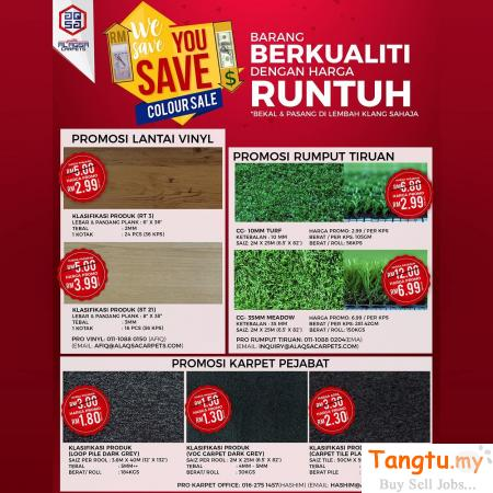 WE SAVE YOU SAVE COLOURSALE IS FINALY HERE!! Klang - Tangtu Malaysia-Singapore Free Classified Ads