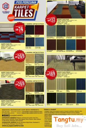 CARPET TILES AT WHOLE SALE PRICES FROM ALAQSA CARPETS – FREE POSTAGE Klang - Tangtu Malaysia-Singapore Free Classified Ads