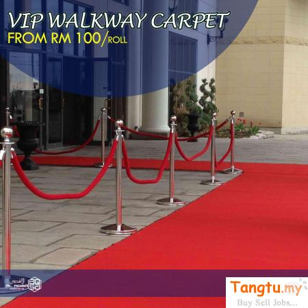 MAKE EVERY EVENT A RED CARPET EVENT IN MALAYSIA WITH OUR VIP WALKWAY CARPET Klang Selangor | Tangtu.my