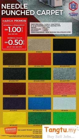 ALAQSA CARPETS NEEDLE PUNCH CARPET – HIGH QUALITY OFFICE CARPET Klang - Tangtu Malaysia-Singapore Free Classified Ads