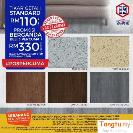 INNOVATIVE FLOORING, DESIGNED FOR YOU-NEW LAUNCH TIKAR GETAH 99 Klang - Tangtu Malaysia-Singapore Free Classified Ads