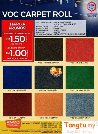 ALAQSA CARPETS VOC OFFICE CARPET FLOORING PRICE Klang - Tangtu Malaysia-Singapore Free Classified Ads