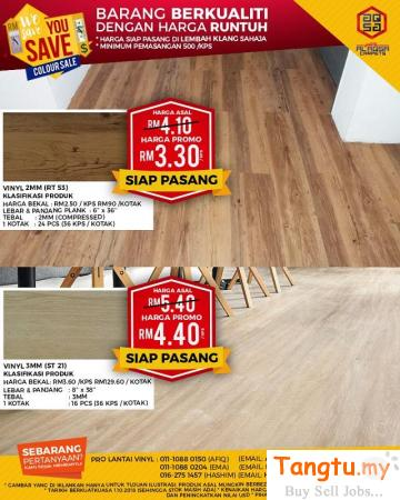 WOOD VINYL RT53 & ST21 WITH GREAT WE SAVE YOU SAVE PROMOTION! Klang - Tangtu Malaysia-Singapore Free Classified Ads