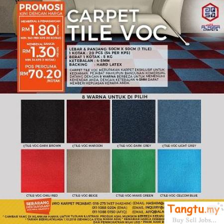 Carpet tils is a good flooring option for you! Klang Selangor | Tangtu.my