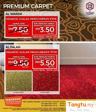 Find the perfect carpet from Alaqsa Carpets - Best Quality Premium Carpet Klang Selangor | Tangtu.my