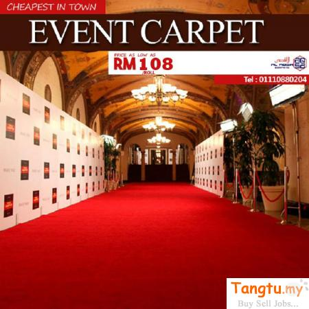 CHEAP EVENT CARPET MAKING YOUR EVENT LOOK GOOD AND GRAND! Klang - Tangtu Malaysia-Singapore Free Classified Ads