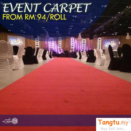 EXHIBITION carpet malaysia - UNMATCHED QUALITY Prices as low as RM108/roll Klang - Tangtu Malaysia-Singapore Free Classified Ads