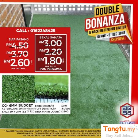 THE FEEL OF GRASS CARPET LAWN ALL SEASON WITH OUR ARTIFICIAL GRASS CARPET!! Klang Selangor | Tangtu.my