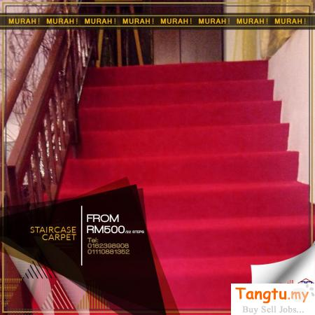 THE BEST CARPET FOR PERFECT STAIRS-STAIRCASE CARPET MALAYSIA. Klang Selangor | Tangtu.my