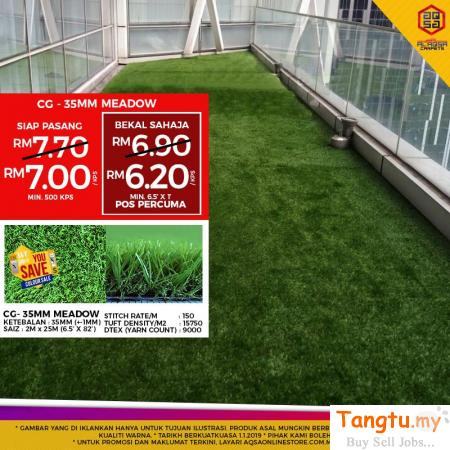 ARTIFICIAL GRASS CAN SAVE YOUR MONEY DUE TO ITS LOW OR NO MAINTENANCE FACTOR. Klang Selangor | Tangtu.my