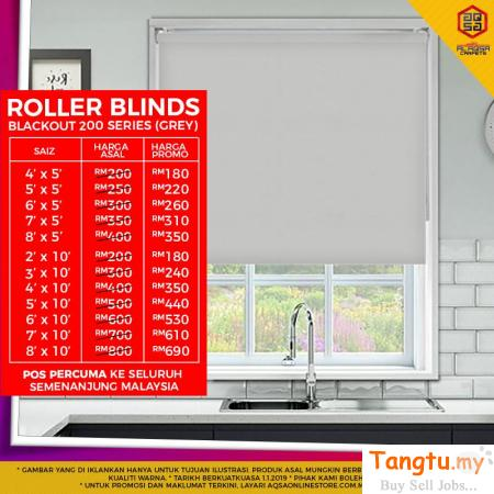 BY GREAT WE SAVE YOU SAVE SALE FOR ROLLER BLINDS!!! Klang Selangor | Tangtu.my