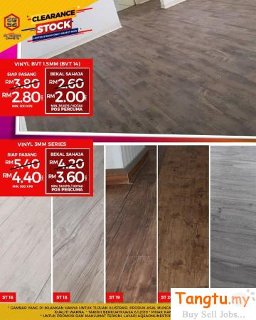 plywood floors with these beautiful and cheap Vinyl flooring. Klang Selangor | Tangtu.my