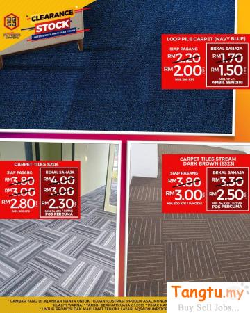 REDESIGN YOUR HOME & OFFICE WITH OUR CARPET TILES Klang Selangor | Tangtu.my