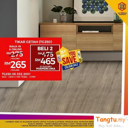Try Tikar Getah Flooring - It will absolutely match with your choice!! Klang Selangor | Tangtu.my