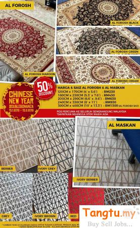 ALMASKAN & ALFAROSH CARPET – CHOOSE THE PERFECT RUGS FOR YOUR HOME Klang Selangor | Tangtu.my