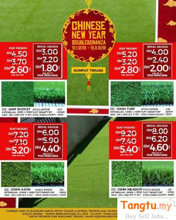 Best CNY Promo For Grass Carpet- Make a Perfect Decor at Budget Price Klang Selangor | Tangtu.my