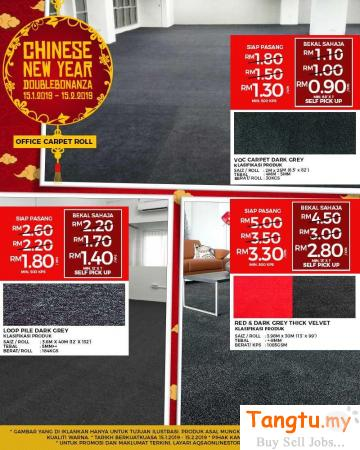 GET THE BIG SAVING ON OFFICE CARPETS BY OUR CNY SALE!! Klang Selangor | Tangtu.my