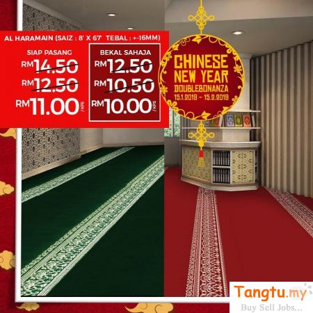 MOSQUE CARPET WITH PROMO CNY DOUBLE BONANZA Klang Selangor | Tangtu.my