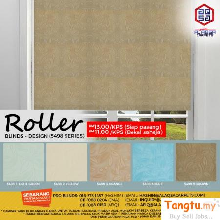 ROLLER BLINDS WILL ADD A TIMELESS STYLE TO YOUR HOME. Klang Selangor | Tangtu.my
