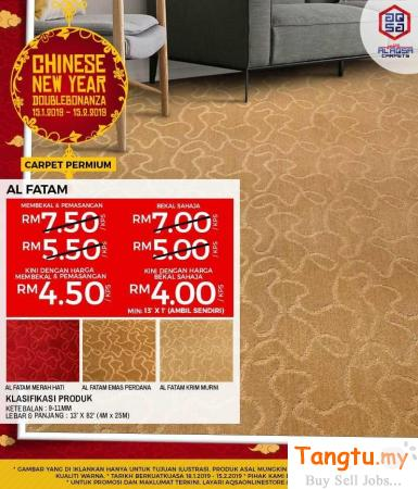 Premium Carpet With Amazing Prices On Best Quality Products Klang Selangor | Tangtu.my