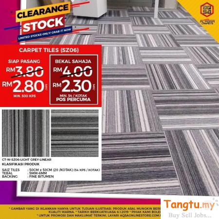 BEST CNY PROMO FOR CARPET TILES - GET IT YOURS AT BUDGET PRICE Klang Selangor | Tangtu.my