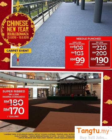 BUDGET FRIENDLY EVENT CARPET FROM ALAQSA CARPETS -GRAB IT TODAY Klang Selangor | Tangtu.my