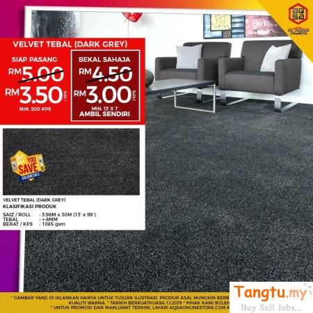 BUY BEST SELLER OFFICE CARPET TODAY & GET BIG SAVING ON IT! Klang Selangor | Tangtu.my