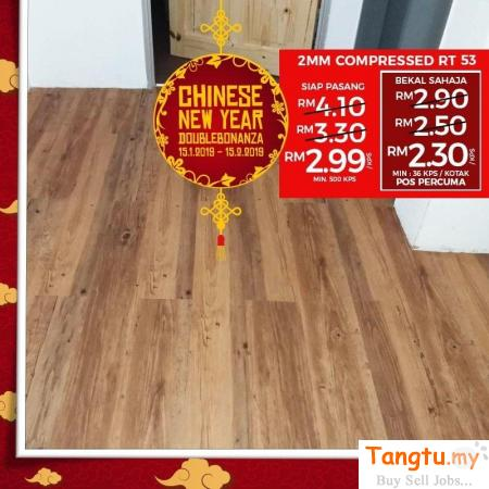 BEST CNY PROMO FOR WOOD VINYL FLOORING AT BUDGET PRICE Klang Selangor | Tangtu.my
