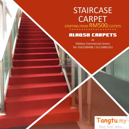 STAIRCASE CARPET -MOST FABULOUS FLOORING FOR STAIRCASES AND LANDINGS Klang Selangor | Tangtu.my