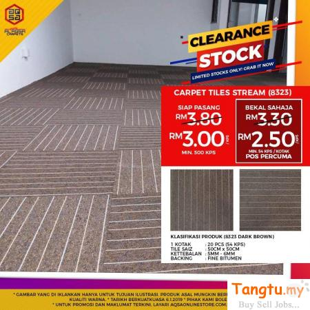AMAZING PRICES ON BEST QUALITY CARPET TILES Klang Selangor | Tangtu.my