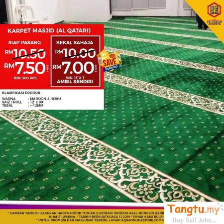 SAVE MORE WITH MOSQUE CARPET WESAVEYOUSAVE SALE Klang Selangor | Tangtu.my
