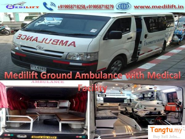 Hire Medilift Ground Ambulance Services in India with Full ICU Setups Ayer Keroh Melaka | Tangtu.my