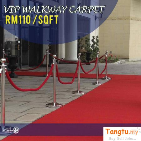 VIP WALKWAY CARPET FOR YOUR EVENTS PARTY AND WEDDING FOR SALE Klang Selangor | Tangtu.my