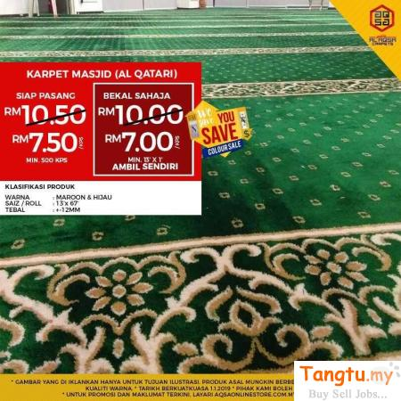 BUY MOSQUE CARPET AND GET 10% TO 45% OFF!!! Klang Selangor | Tangtu.my