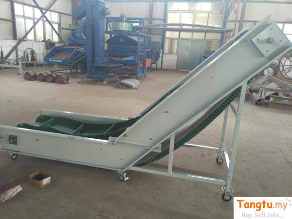 Corrugated sidewall and cleated belt conveyor can transport bulk materials at inclines up to 90 degr Port Klang Selangor | Tangtu.my